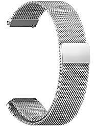 eFithy Withings Activité/Activité Steel/Activité Pop Activity Tracking Watches 18mm Replacement Milanese Stainless Steel Wrist Band Strap Bracelet-Silver