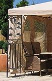 Grasekamp 4 Seitenteile zu Blätter Pavillon 3x4m mit Moskitonetz Sand