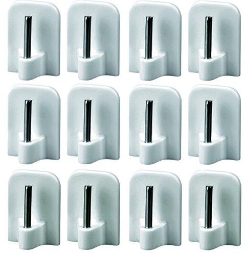 Haken für Scheiben-Gardinen 30 Stück weiß selbstklebend Gardinenhaken Klebhaken