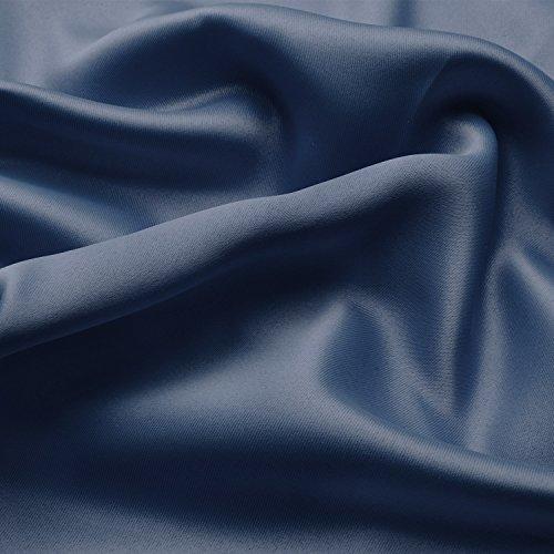 Beautissu Blackout-Vorhang Amelie mit Kräuselband – 140×245 cm Blau – Verdunklungsgardine Universalband Blickdicht - 3