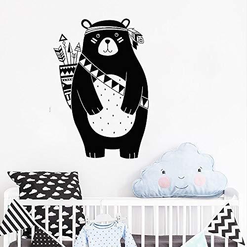 ddfe8cbd452e RPCBZ Mode Mur Applique Vinyle Stickers Muraux Enfants Room Room Tribe  Maternelle Stickers Muraux Accueil Décoration Murale Woodland Tribe Animal  Ours ...