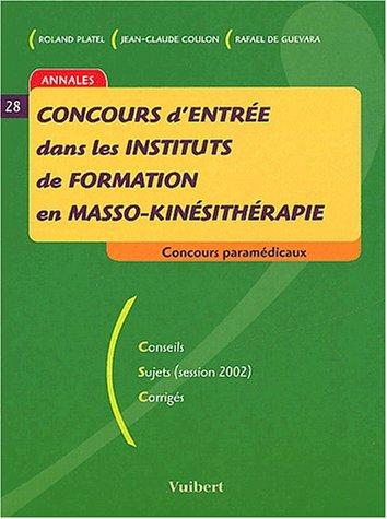 Concours d'entrée dans les instituts de formation en masso-kinésithérapie