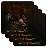 Don 't Tread On Me Eagle Snake Low Profile Neuheit Cork Untersetzer Set