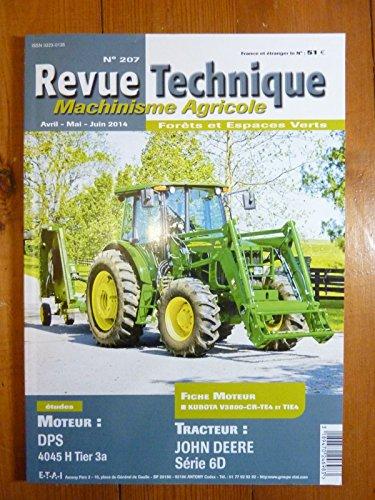 REVUE TECHNIQUE TRACTEUR AGRICOLE ET MACHINISME JOHN DEERE 6000D