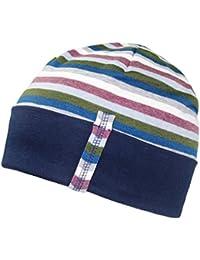 Fiebig Bonnet Garçon Calotte Chapeau Replié Cap Jersey D Automne Mi-Saison  Hiver Strié Pour Enfants (FI-71372… 35fda36b65a