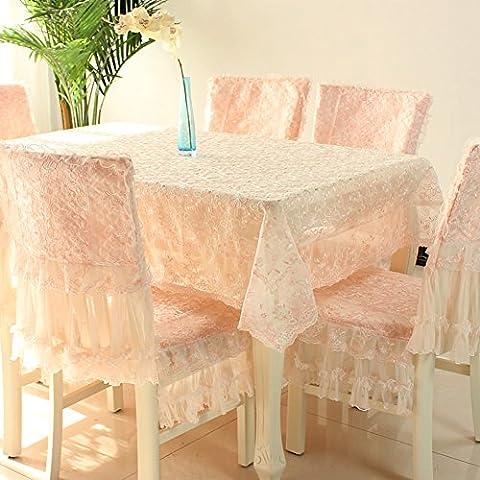rivestimenti in tessuto di pizzo Pastorale/Copertine per retro tappezzeria sedie Kit-A