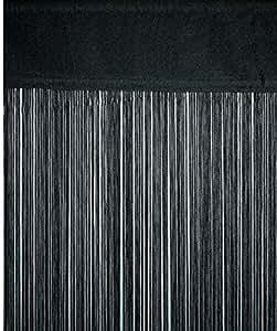 Rideaux en fil rideau noir 250 x 90 cm