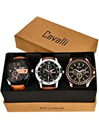 Cavalli Analogue Multi-Colour Dial Men'S And Boy'S Watch-Combo Of 3 Exclusive Watches-CW296