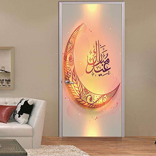 libby-nice Muslimische Zubehör Zubehör Wandtür Aufkleber Für Sicherheit Und Frieden Im Islam Vinyl Allah Arabisch Muslim Arab Quran77X200Cm