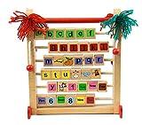 Edufun 32085 Alphabetlernspiel Clown English Zahlenlernspiel Englisch Holzspielzeug zum englisch Lernen für Kinder ab 3 Jahre von A-Z und 1-10 mit bunten Bildern