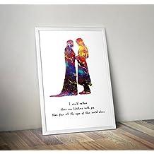 Herr der Ringe inspirierte Poster der Hobbit Print Rahmen nicht im Lieferumfang enthalten Alternative TV//Movie Prints in verschiedenen Gr/ö/ßen
