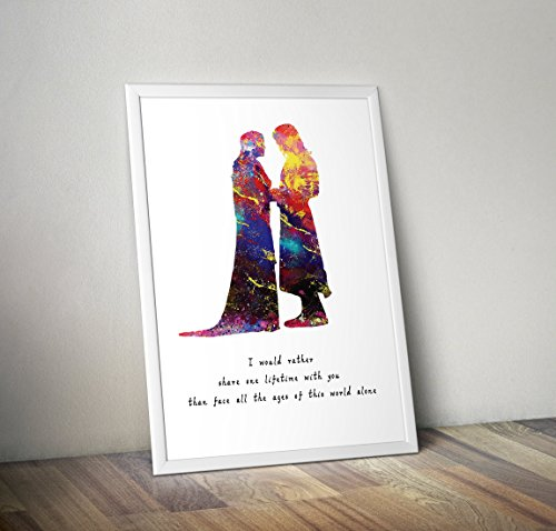 Cartel inspirado El Señor Anillos - aragorn arwen