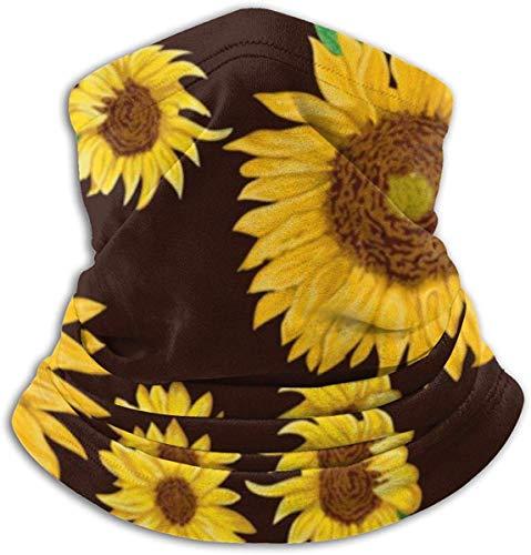 LiGHT-S Multifunktions-Nackenmaske mit Sonnenblumen und grünen Blättern Wendbares Ohrstirnband Ultimative Wärmespeicher-Vielseitigkeit für Herren