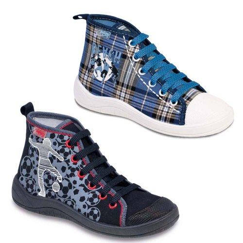 BEFADO Kinder Freizeitschuhe Schnürer Sneaker 892Y Blautöne