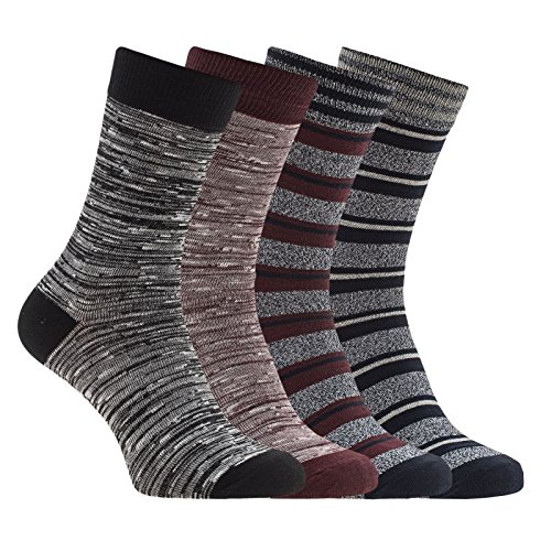 Jack & Jones 4er-Set Herrensocken in schwarz & blau & rot Größe 41-46