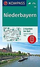 Niederbayern: 3 Wanderkarten 1:50000 im Set inklusive Karte zur offline Verwendung in der KOMPASS-App. Fahrradfahren. (KOMPASS-Wanderkarten, Band 160)