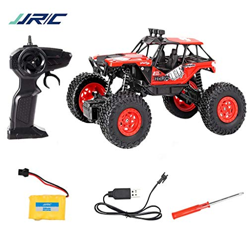 Jamicy® Q66 RC Auto 4WD Offroad Rock 2,4 GHz 1:20 Funk-Fernbedienung, Fernsteuerung Fahrzeug, Graffiti High Speed Racing Monster Modell, 8 Km/h (Rot) (Monster-lkw-shirt 6)
