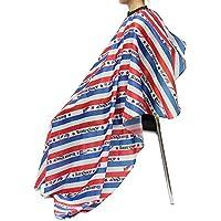 Cabo de peluquería, 156 * 140 cm Salon Barber Cape, Delantal de corte de pelo, Raya de corte de pelo Envoltura de tela en el Cabo Protege los suministros