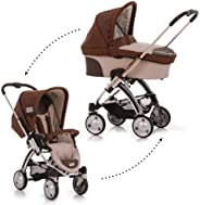 iCoo Pii, Stroller with seat-unit and 3in1 pram, and MP3 System, 0M+ to 15 kg - Cacao
