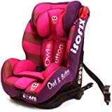 iSafe Isofix DUO TRIO PLUS ISOFIX + TOP TETHER CAR SEAT Carseat Car Seat Group 1 2 3 9kg - 36kg - Owl & Button