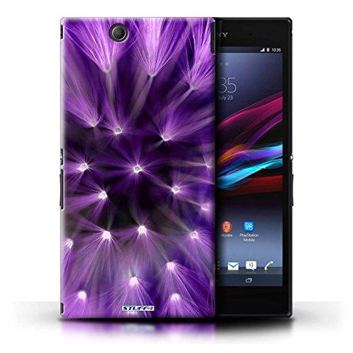 Kobalt® Imprimé Etui / Coque pour Sony Xperia Z Ultra / Jaune conception / Série Couleur/Lumière Fleur Pourpre