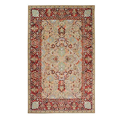 GJIF Türkischer Vintage Teppich waschbar rechteckiger Teppich geeignet für Wohnzimmer Schlafzimmer - 0,6 cm (Farbe : #001, größe : 200x300cm)