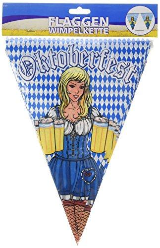 Oktoberfest Wimpelkette 10m Wiesn Deko Party Bierfest Oktober Fest