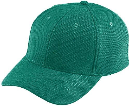 Augusta de vêtements de sport pour enfant de la transpiration réglable casquette en maille vert foncé