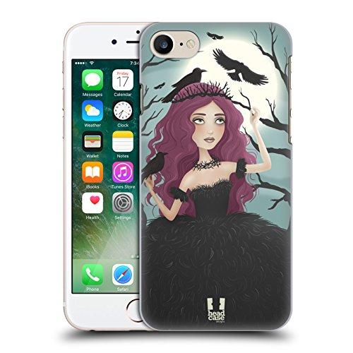 Head Case Designs Zhulong Tatuaggio Di Drago Cinese Cover Morbida In Gel Per Apple iPhone 7 / iPhone 8 Regina Nera La Spina