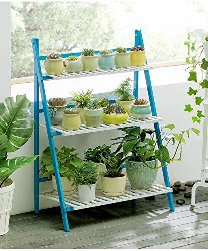 WYDM Pliage simple salon fleur stand balcon solide bois multi-couche étage intérieur fleur pot étagère (taille : 50 * 40 * 96cm)