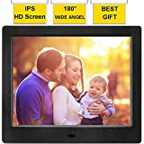 MRQ 8 Inch Digital Photo Frame Full HD Display 180 Degree Wide Viewing