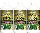 Aloe Pura Aloe Vera Juego de Arándano 1 Litro x 3 Botellas