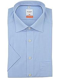 Olymp chemise style moderne à carreaux bleu/blanc)