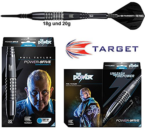 #Darts TARGET Power 9Five Gen4 (Phil Taylor) 95% Tungsten Softdarts#