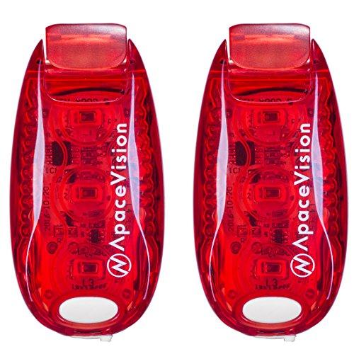 EverLightFX LED Sicherheitslicht von Apace – 2 ultrahelle, per USB aufladbare, ansteckbare Sicherheitsleuchten - erhöhte Sichtbarkeit für Jogger, Schulkinder, Haustiere, Radfahrer (Fahrradrücklicht)