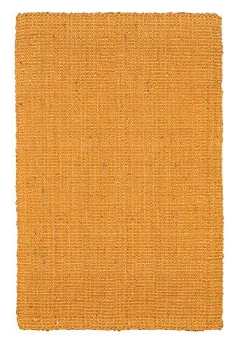 Jute & Co. Bouclé - Alfombra 100% fibra de yute, 120 x 180 cm, hecha a mano, color mostaza