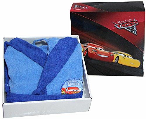 Bademantel mit Kapuze Original Cars McQueen by Disney Jahre 23456789100% Micro Schwamm Puro Baumwolle Baby Kind ANNI ()