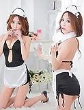 HJL-Les femmes de femme de ménage cochonne Sexy Halloween Costume (3 Pieces)