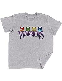 Warrior Cats Logo Niños Chicos Chicas Unisexo Camiseta Gris