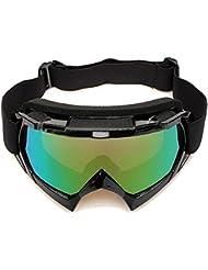 Lunettes de ski - SODIAL(R) Lentille unique motocross goggles lunettes de ATV cross-country dirt velo moto ski noir
