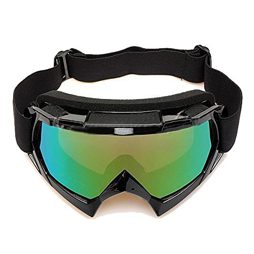 JVSISM Gafas de Esqui de Motocicleta Resistente a Polvos ATV Fuera de la Carretera de Motocross de un Solo Lente de Color Negro