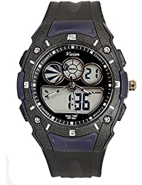 Vizion Black Dial Analog-Digital Dual Time BLUE Shade Watch For Men-8015058AD-3