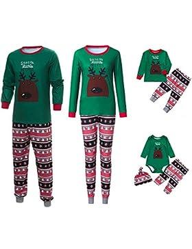 Riou Weihnachten Set Kinder Baby Kleidung Pullover Familie Pyjamas Nachtwäsche Passende Outfits Set Schlafanzug...
