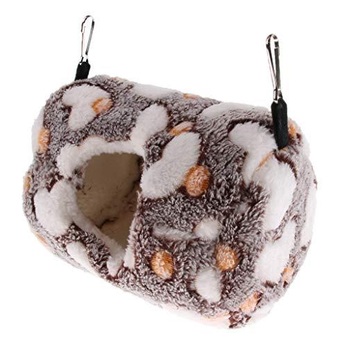 B Blesiya Hängematte Kuschelhöhle Warm Bett Nest für Hamster Ratten Kleintiere - Brown L