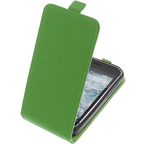 foto-kontor Tasche für CAT S40 Smartphone Flipstyle Schutz Hülle grün