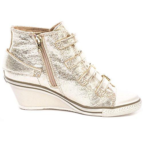 Genial Damen Ash Platine Leder Sneaker Aus 6dawRa