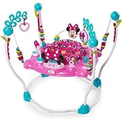 Disney Baby, Aire d'Eveil à Rebonds Minnie PeekABoo avec plus de 12 jouets, musique et lumières, siège rotatif à 360 degrés!
