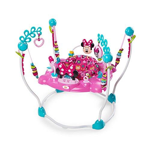 Disney 10299 - Saltador para bebé Minnie Mouse Rosa Columpio Rebotador Bota...