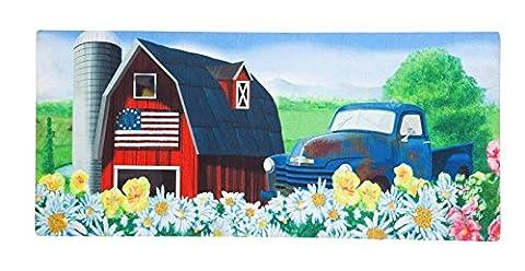 Evergreen Patriotische Barn Dekorative Fußmatte einfügen, 25,4x 55,9cm