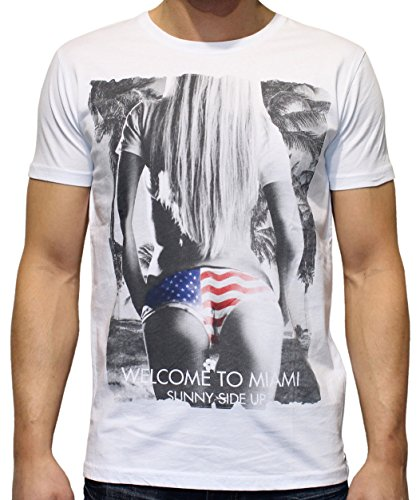 40by1, Herren T-Shirt, Welcome to Miami, white, 40/1-12-028, GR S